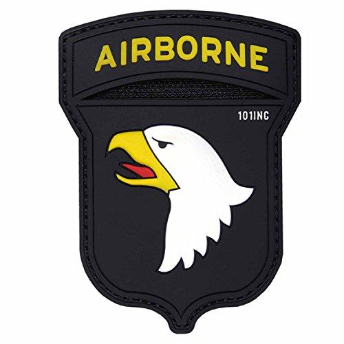 Emblem 3D PVC Airborne 101st #17023 Rubber Patch Klett Abzeichen 9,3 x 7 cm US Weißkopf Adler