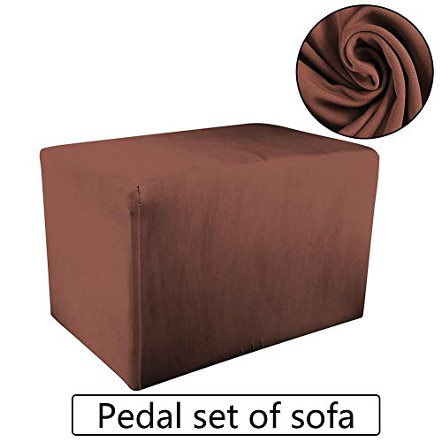Baiansy Fußhocker Sofa-Überzug Stretch Stauraum Schonbezug Spandex Elastisch Fußhocker Bezug Coffee