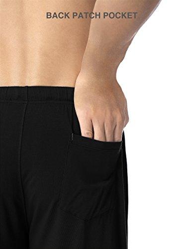 DAVID ARCHY Men's 2 Pack Soft Comfy Bamboo Rayon Sleep Shorts Lounge Wear Pajama Pants
