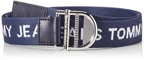 Tommy Jeans Damen TJW Essential Webbing Belt 3.5 Gürtel, Marineblau (Twilight Navy), 75