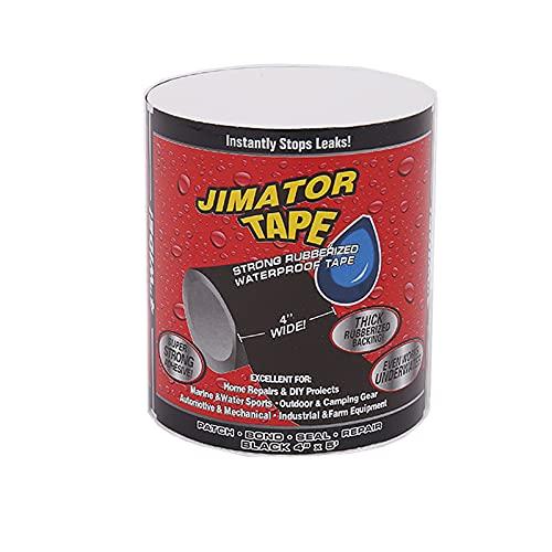 Cinta de reparación sumergible, cinta de reparación, para piscina, jardín, reparación de fugas, cinta adhesiva impermeable para reparación, ayuda adhesiva (negro)