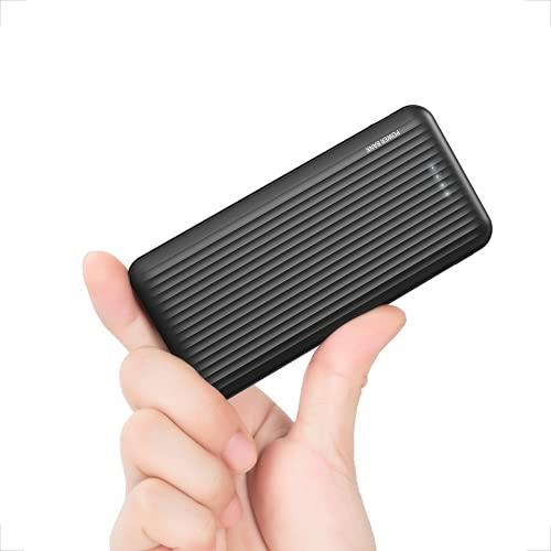 undreem Power Bank, 18W Powerbank 10000mAh con Due 3A USB C/A Output, Ultra Sottile Caricabatterie Portatile Carica Rapida, 3-Uscite & 2-Ingresso Batteria Esterna, Powerbank per Samsung