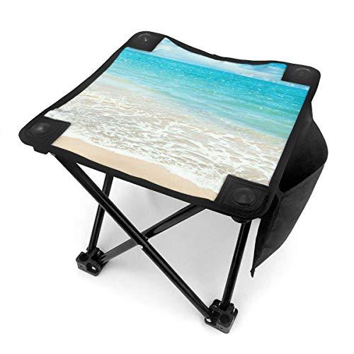 End Nazi Tabouret de Camping chaises Pliantes Summer Beach Blue Sea Sunshine Siège de Chaise Portable
