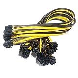 10x Cable de Alimentación PCI-E 6P a 8P (6+2) pin tarjeta gráfica PCI-e Express VGA divisor cable de extensión de alimentación, para DPS-1200FB Ethereum Mining Breakout Board 50CM