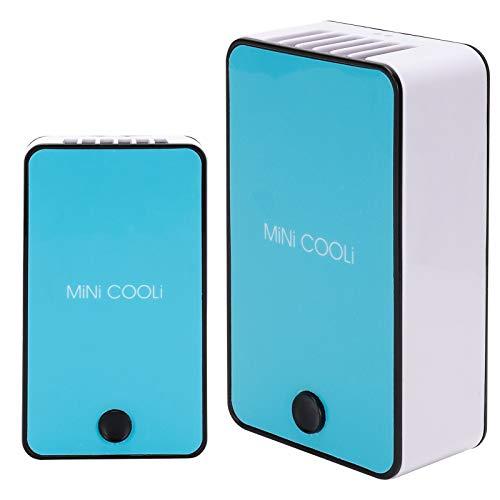 Wosune Ventilador secador de pestañas, Ventilador de pestañas Azul Recargable Mini ABS Inteligente con función de Bloqueo automático para el hogar