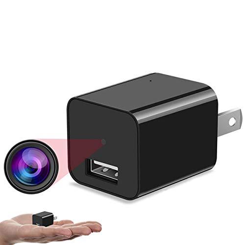 GEQWE Cámaras Ocultas Wi-Fi, Mini Cámara Interior 1080P, Cámara Automática Actúa con Visión Nocturna, Detección De Movimiento, Audio Bidireccional, con Modo Ap