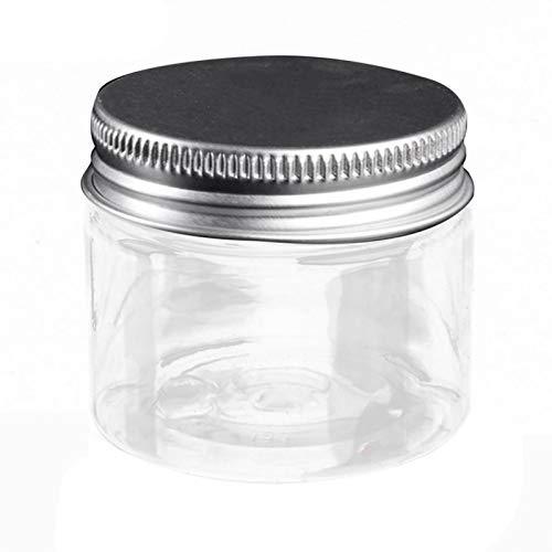 Klein Probe Leerer Klar Behälter - Nachfüllbare Behälter Glasbehälter Mit Deckel Und Liner Transparent Tiegel Für Kosmetik Cremes Lotionen Ätherische Öle Pulver