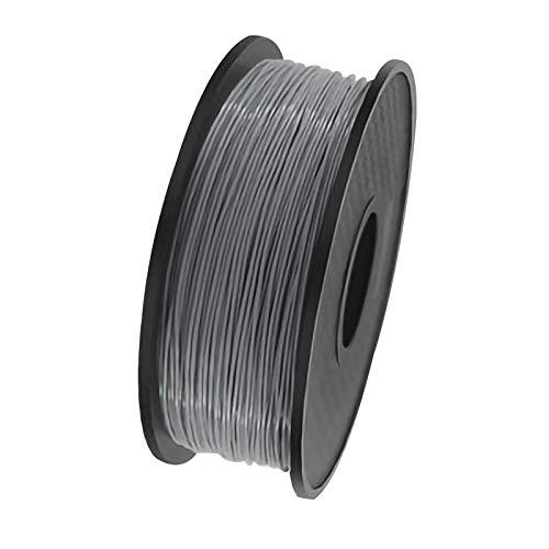 ZXC QualitäTs Pla Filament Feder 3D Filament Refills 1,75 mm Genauigkeit ± 0,02 100% Nein Blase 1 kg 2.2lb Kein Geruch Und Leicht Zu SchäLen Filament for Die Meisten 3D-Drucker(Color:grau)