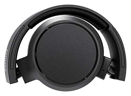 Philips Audio Casque Bluetooth Sans Fil Supra-Aural avec Microphone et Bouton D'amplification des Basses (29 Heures D'autonomie, Charge Rapide, Isolation Phonique) Noir - Modèle 2020/2021 TAH5205BK/00