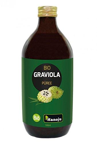 Bio Graviola Saft, trüb, (Guanábana) 500 ml Glasflasche - aus kontrolliert biologischem Anbau 100% natürlich