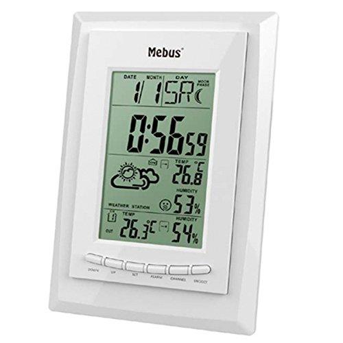 Mebus 40424weiß Digitale Wetterstation–WETTERSTATIONEN Digitale (weiß, 125mm, 25mm, 200mm)