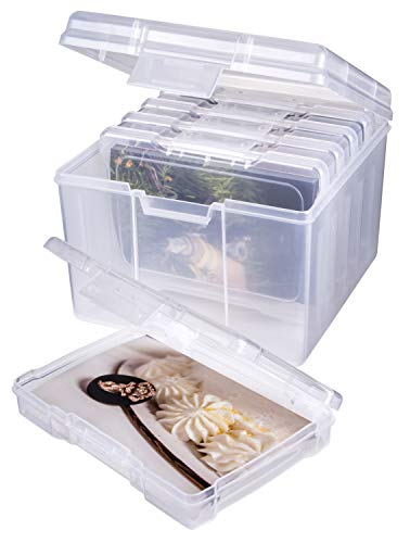 ArtBin Photo and Craft Supply Organizer Set, Large Box with 5-Pack Inside, Clear