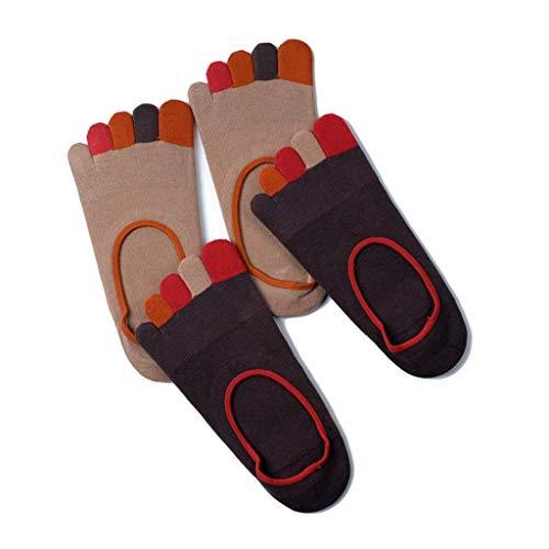 Toe Socks for Men, Classique Crew Low Cut Cheville Coton Course, Randonnée, Marche, Camping (Pack De 4),H