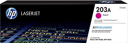 HP 203A CF543A Cartuccia Toner Originale, da 1300 Pagine, Compatibile con le Stampanti HP Color LaserJet Pro MFP Serie M250 e M280, Magenta