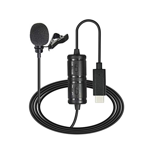 UOEIDOSB Micrófono USB de 6M Micrófono de teléfono móvil dedicado Mini Micrófono de grabación en Vivo Lavalier