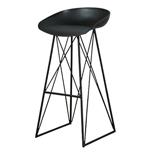 ZWL Tabouret de bar, tabouret de bar à la maison de haute tabouret en fer forgé mode (Couleur : A(black))