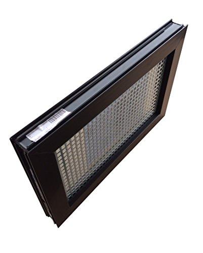 Kellerfenster braun 60 x 40 cm Einfachglas, Schutzgitter, montierter Insektenschutz, 4 Fensterbauschrauben