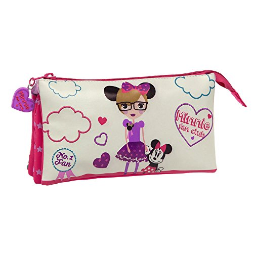 Disney Trousse Trois Compartiments Minnie Fan Vanity, 22 cm, 1,32 L, Blanc