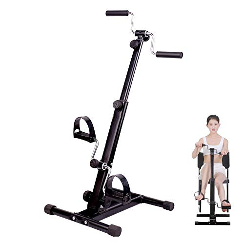 Carejoy Pedal Exerciser,Mini Exercise Bike, Adjustable Resistance Arm & Leg Indoor Fitness Training Machine Upper and Lower Extremity Stroke Hemiplegia Rehabilitation (Black)