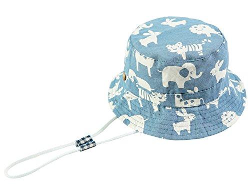 Baby Sonnenhut Kinder Hut, Sommerhut Mütze for Jungen Mädchen mit Verstellbar Kordelzug (52cm / 2-4 Jahre,Elefant)