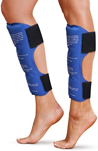 Shin Splint Ice Packs Set of 2 Reusable Hot and Cold Therapy Wrap Leg or Calf Pain Relief Advanced product image
