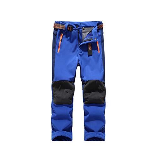 Minghe Kinder Softshellhose - Water Resistant Fleece Gefütterte Hose, Klettern Wandern Casual Bottoms - für den Herbst Winter