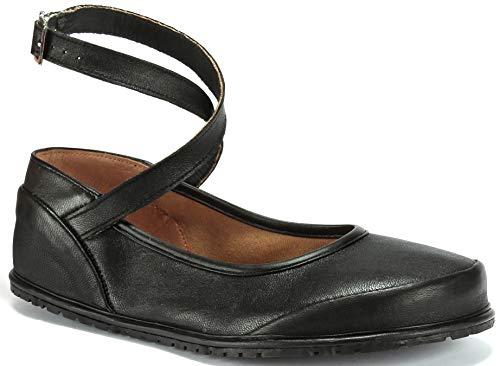 Magical Shoes - Anna - Ballerinas | Barfußschuhe | Damen | Zero Drop | Flexibel | Rutschfest | Natur-Leder, Größe:43 / 276mm, Farbe:Ballerina Anna - Schwarz
