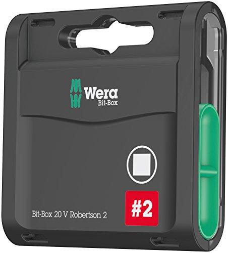 Wera 05057790001 Sortiment, Bit-Box 20 V Robertson 2, 20-teilig, Stück