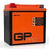 GP-PRO GB9-B - Batería de arranque para scooter y motos, 12V, 9Ah, parecido a YB9-B / 50914, sin necesidad de mantenimiento