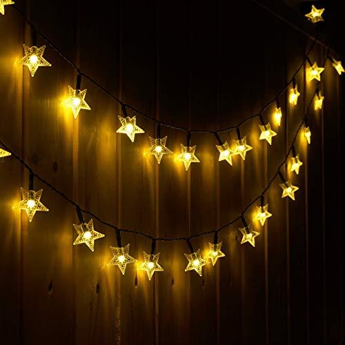 Luci Solari Esterno, Litogo 7M/50 LED Catena Luminosa Esterno luce stellare impermeabile 8 modalità Lucine da Esterno Decorative Per Giardino, Natale, Patio, Cancello, Cortile, Matrimonio, Festa