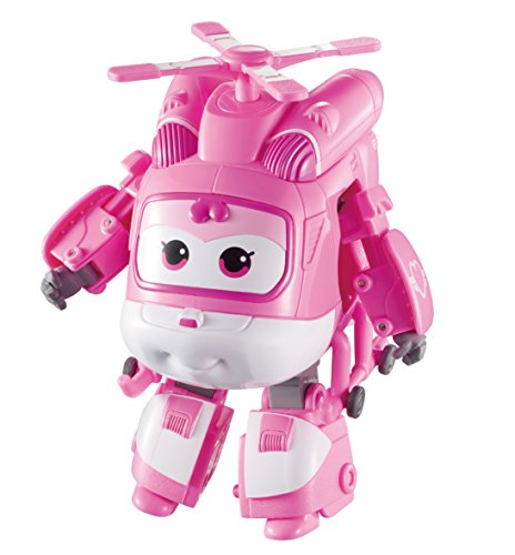 Super Wings - Transforming Dizzy Toy Figure, Helicopter, Bot, 5' Scale, Pink