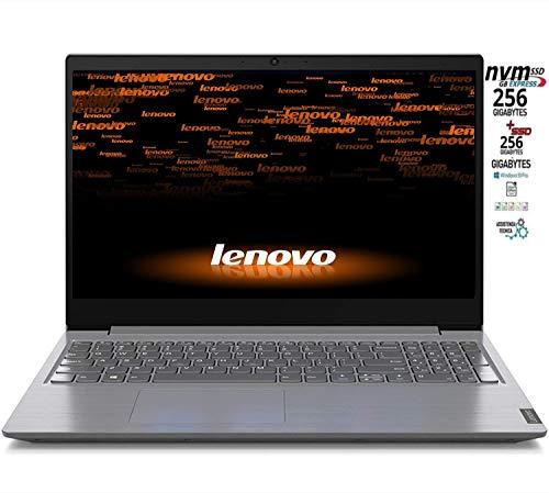 Notebook Lenovo SLIM 8 Gb DDR4, SSD 512GB, cpu Amd A4 3020 di ultima generazione, Display Hd da 15,6 pollici, web cam, 3usb, hdmi, bt, Win10 Pro, Pronto All'uso, garanzia Italia