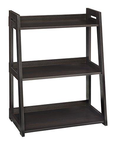 ClosetMaid 3312 No-Tool Assembly Wide 3-Tier Ladder Shelf, Black Walnut