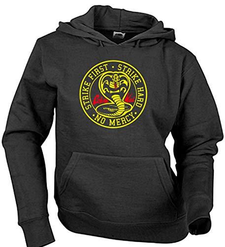 Camisetas EGB Sudadera Adulto/Niño Cobra Kai ochenteras 80´s Retro (Negro, S)