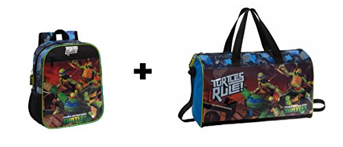 NTT Tortugas Ninja - Pack Mochila 28cm + Bolsa de Viaje 42cm