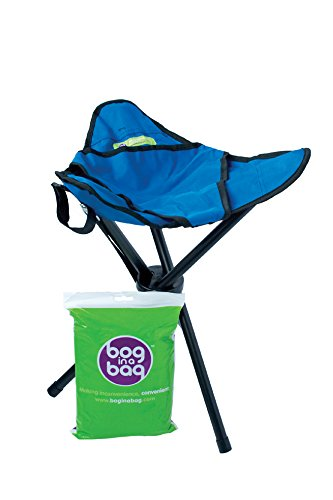 BoginaBag Foldable Portable Folding Toilet / Loo suitable for Festivals, Camping, Fishing, Hiking & Treking - Bog in a Bag (STOOL + 1 PACK OF BAGS)