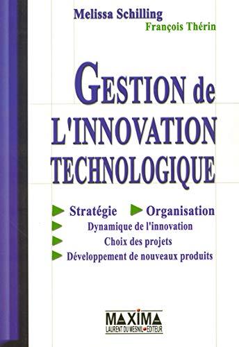 GESTION DE L'INNOVATION TECHNOLOGIQUE