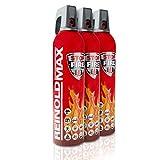 XENOTEC Premium Feuerlöschspray – 3er Set - 750ml – Stopfire – Autofeuerlöscher – REINOLDMAX – wiederverwendbar – geeignet für Fettbrände – 3 x 750g