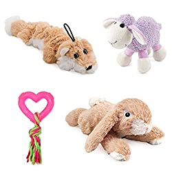 Four quality toys especially for puppies Ancol quality made pet toys Great for you also great as a gift Lots of squeeks, rattles and chewing