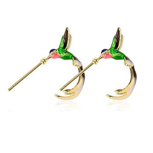 Cute Hummingbird Earrings, Hummingbird Bird Stud Earrings, Animal Ear Studs for Women Girl