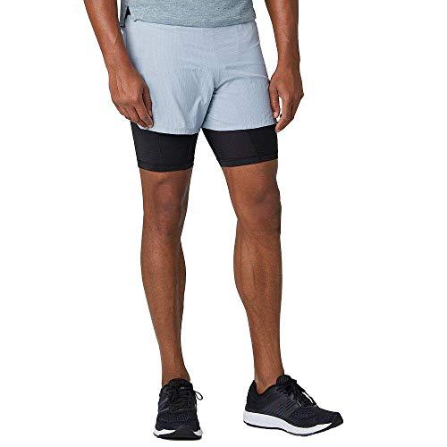 New Balance Pantalón Corto Q Speed 5 Pulgadas 2 en 1 para Hombre, Q Speed - 12.70 cm, pantalón Corto 2 en 1, Pizarra Claro, XX-Large