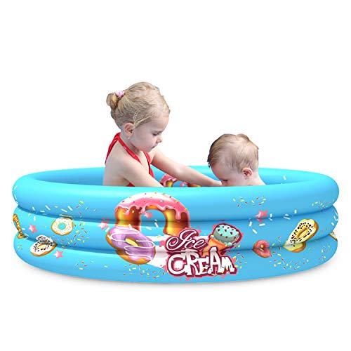 Runder aufblasbarer Pool, Durchmesser 110 cm, Tiefe 30 cm, geeignet für Kinder und zum Waschen von Tieren, oberirdisch