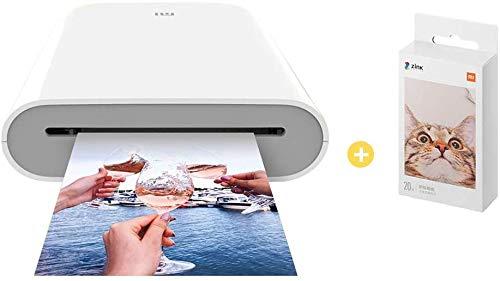per Xiaomi Stampante Portatile, AR video Printing, Bluetooth 5.0, w/ZINK Tecnologia Zero Ink Printing, Photo Printer 300DPI Mini tasca fotografica, co