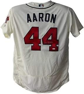 Hank Aaron Autographed Signed Atlanta Braves Authentic Majestic Cream 48 Jersey JSA