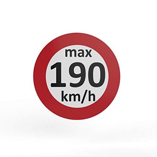 AUPROTEC Geschwindigkeitsaufkleber Winterreifen Aufkleber 160-240 km/h Auswahl: (5 Stück, 190 km/h)