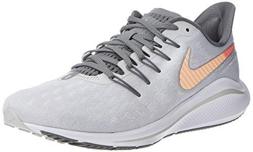 Nike Wmns Air Zoom Vomero 14, Zapatillas de Atletismo Mujer, Multicolor (Pure Platinum/Crimson Tint/Cool Grey 000), 40.5 EU
