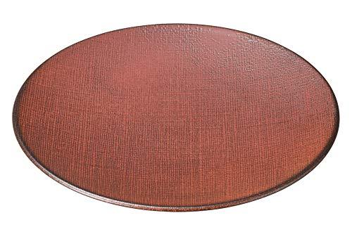 柿赤 27.5cm丸皿(かやめ) [ 27.7 x 2.7cm ] [ 大皿 ] | 飲食店 和食 旅館 料亭 ホテル 業務用
