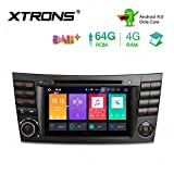 XTRONS 7' 4GB RAM 64GB ROM Android Autoradio mit Touchscreen Octa-Core Android 9.0 DVD Player Autostereo unterstützt 3G 4G Bluetooth DAB OBD2 CAR Auto Play TPMS FÜR Mercedes-Benz