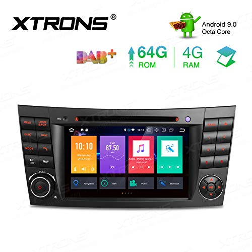 """XTRONS 7\"""" 4GB RAM 64GB ROM Android Autoradio mit Touchscreen Octa-Core Android 9.0 DVD Player Autostereo unterstützt 3G 4G Bluetooth DAB OBD2 CAR Auto Play TPMS FÜR Mercedes-Benz"""
