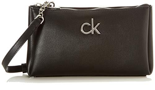 Calvin Klein Double, XBODY Doppia Zip Donna, Nero, 28 Inches, Extra-Large